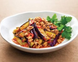Spicy Sichuanese Aubergines with Mince