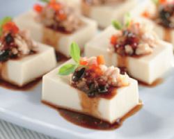 Steamed Minced Pork And Tofu With Black Bean Sauce