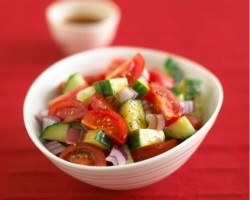 Cucumber & Tomato Salad with Chinese Dressing